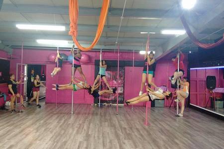 Pole Dance Golden Lady