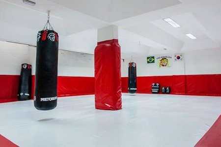 Academia Dalmo Ribeiro - Sala de lutas da Academia Dalmo Ribeiro Unidade 706 Norte